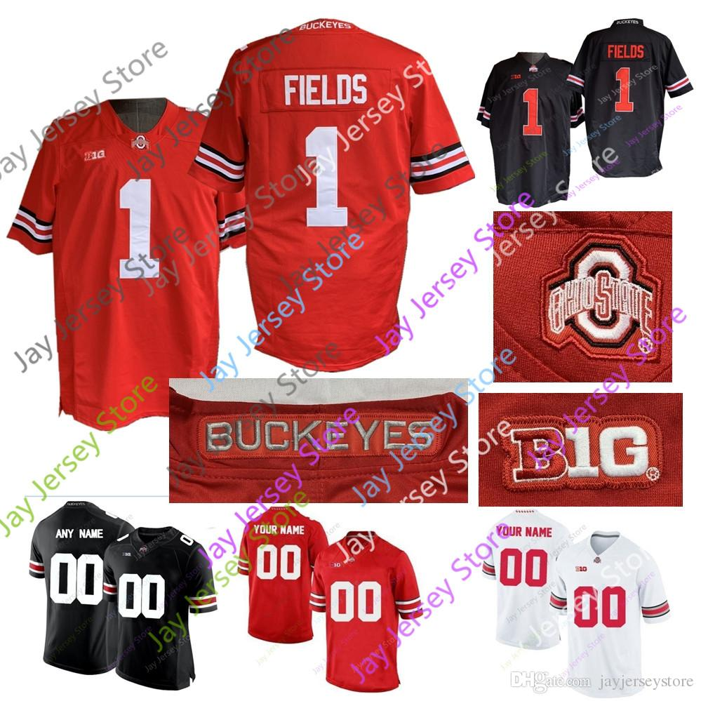 Custom Osu Ohio State Buckeyes Football Jersey Justin Fields Dobbins e9df3f012