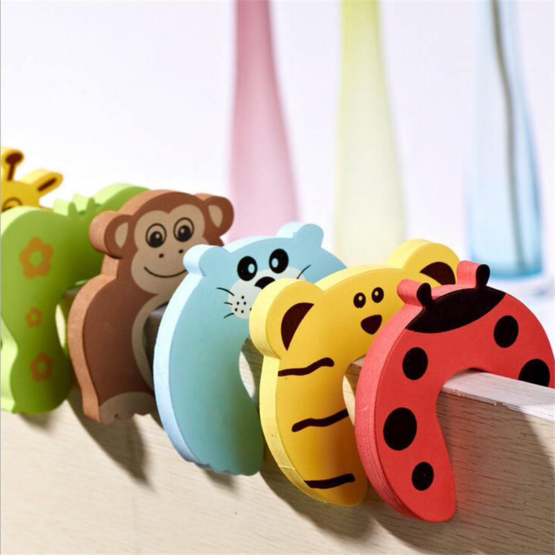 10pcs/pack Baby Kids Safety Door Stopper Carton Animal Baby Protecting Product Children Safe Door Stop Holder Security