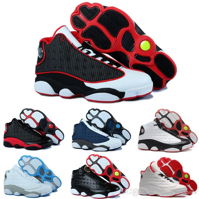 High Quality Mens Basketball Shoes 13 Bred Black Cat He Got Game Men Women  DMP 13s Sports Shoes Designer Sneakers Athletics Size 7 13 Cheap Shoes 4e  ... 6af87f85fc92