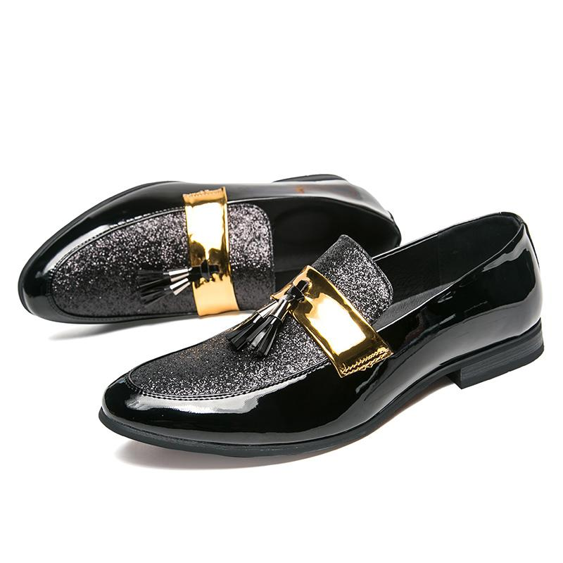detailing sale uk innovative design 2019 Hot sales Luxury men leather loafers slip-on Business loafers  stitchwork club stylist leather shoes Mens Wedding Dress Shos as318
