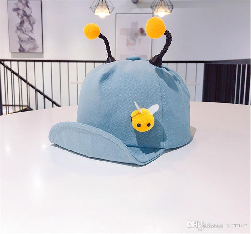 2019 new children's hat spring cartoon bee tentacle cap boys and girls baby sunshade baseball cap suitable for children 1~3 years old