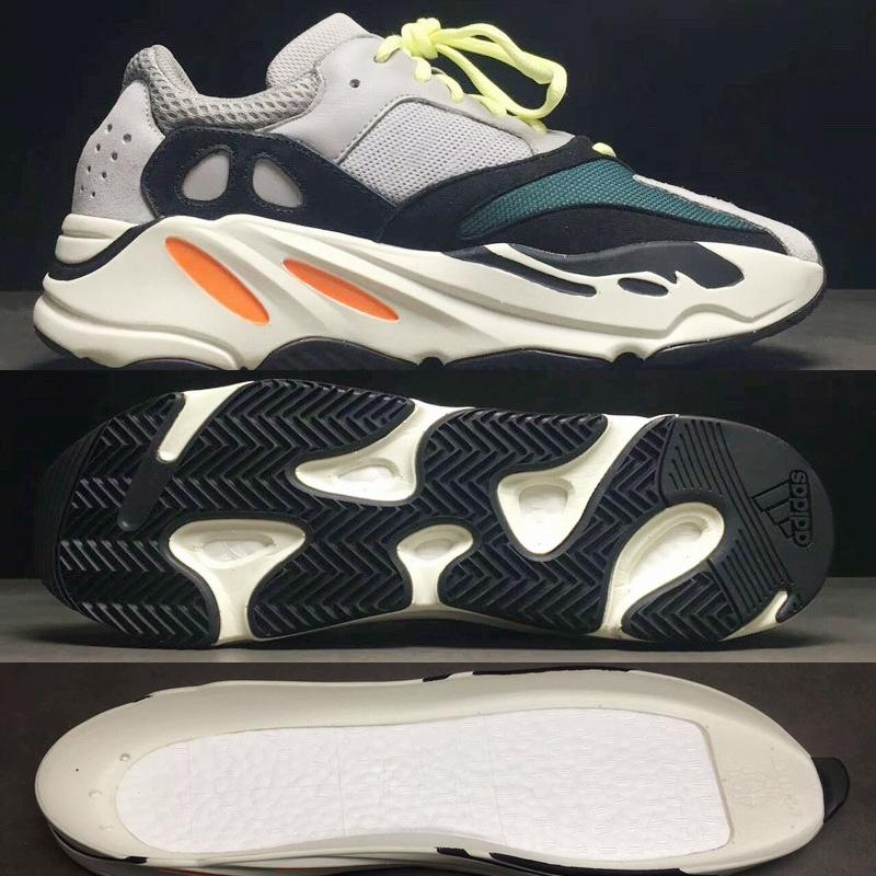 newest f9250 3c43b Adidas West Wave Runner 700 Boots Grey Running Shoes for men 700s womens  mens Sports Sneakers trainers outdoor designer Causal shoes