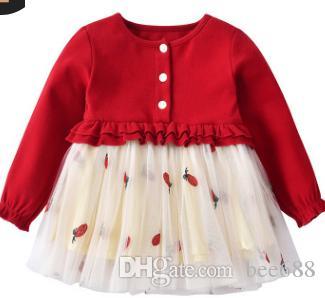 Vestido 1 2 Otoño Bebé Niña Edad Nueva Años Compre Falda De C4tqRR