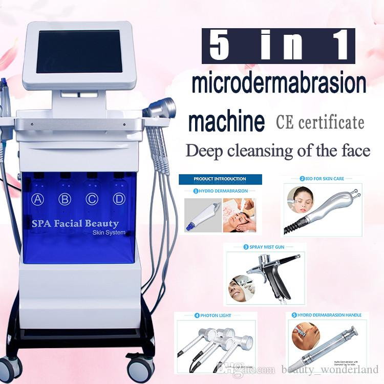 5IN1 portable Hydrafacial machine Diamond Microdermabrasion beauty machine oxygen skin care Water Dermabrasion Peeling hydrafacial SPA