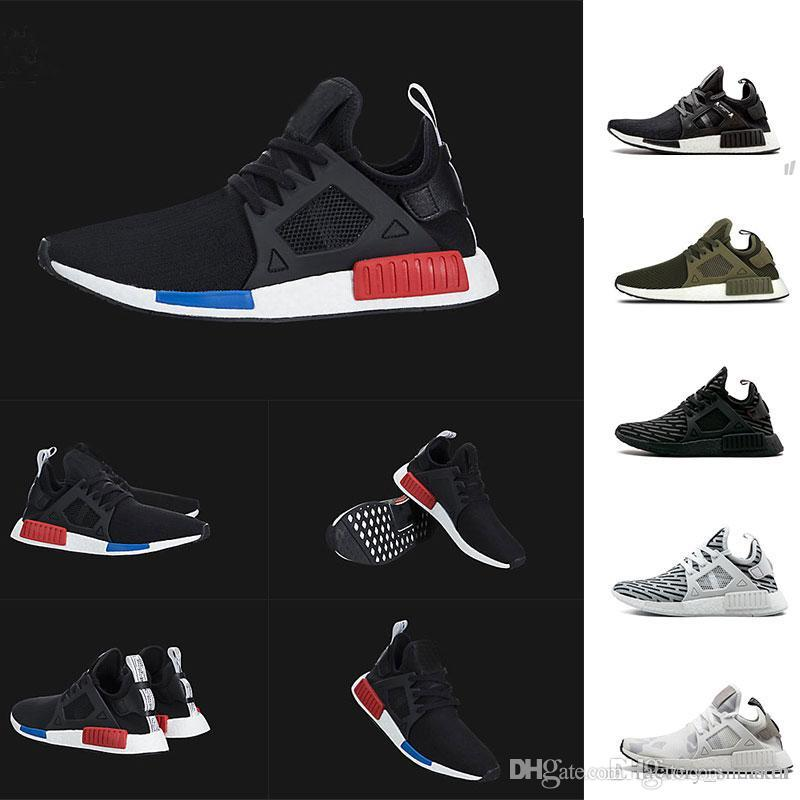 61b9ba31e 2019 Wholesale NMD XR1 Running Shoes Fall Olive Camo Green OG Stripe Black  White Women Mens Trainers Sports Sneakers Size 36 45 From Factory sneaker