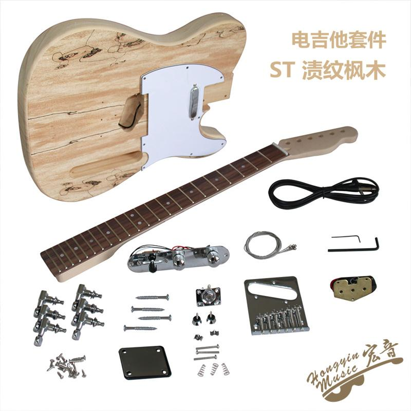 maple neck rosewood fingerboard stain pattern maple electric guitar making material accessories