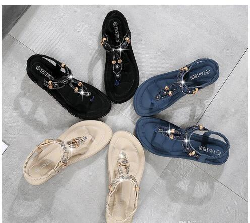 13f78ec81 Ladies Beaded Sandals 2019 Newest Hot Best Spring And Summer Fashion New  Women S Shoes Bohemian Casual Sandals Large Size Platform Shoes Prom Shoes  From ...