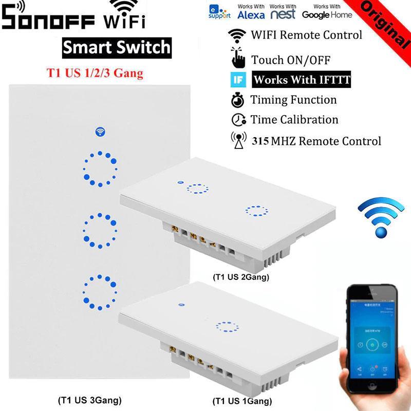 Extrem Großhandel Sonoff T1 Arbeiten Sie Mit Google Home Alexa US Smart YW08