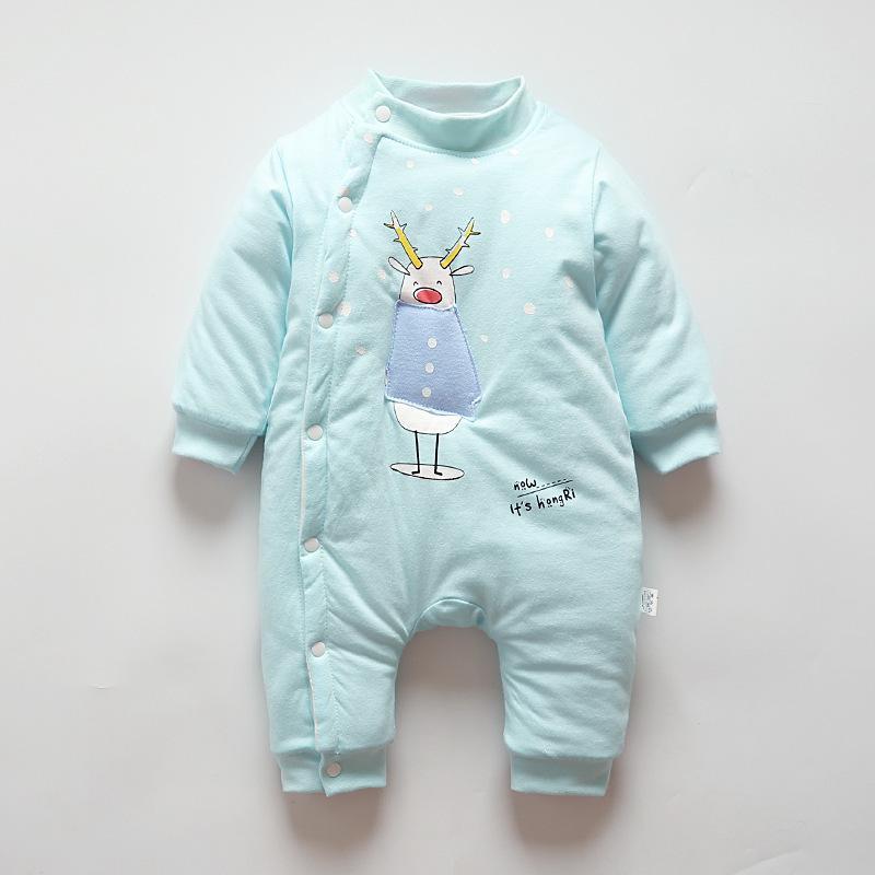 24858f0a880f 2019 New Children Pajamas Plus Velvet Romper Newborn Baby Clothes Long  Sleeve Underwear Cotton Costume Boys Girls Autumn Rompers Online with   43.02 Piece on ...
