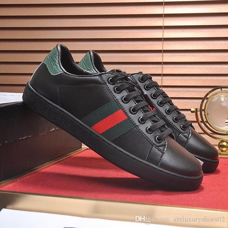 Acquista 2018 Scarpe Da Uomo Di Marca Di Lusso Ace In Pelle Ricamata  Sneaker Gvccl Lace Up Casual Italia Moda Sneakers Traspiranti Zapatos De  Hombre Inverno ... 469b79cc1b4