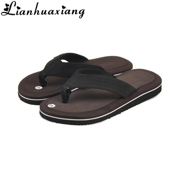 2436a61ec79c Summer Fashion Men S Flip Flops Beach Sandals For Men Flat Slippers Non  Slip Shoes Plus Size Leisure Soft Massage Slides Thongs Hiking Boots Knee  High Boots ...
