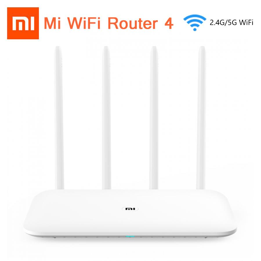 Original Xiaomi Mi Wifi Router 4 Wifi Repeater 2 4g 5ghz 128mb Ddr3-1200  Dual Band Dual Core 880mhz App Control Wireless Router T190619