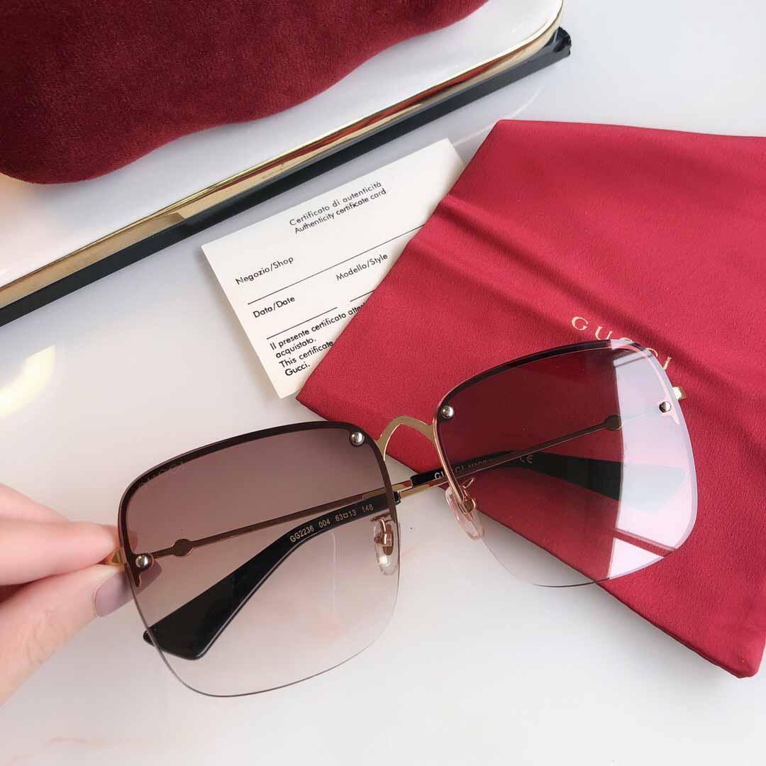 f8c8e3300 Compre 2019 Mulheres De Luxo Designer G Óculos De Sol Para Mens Espelho De  Vidro Verde Lense Óculos De Sol Do Vintage Acessórios De Óculos Das  Mulheres Com ...