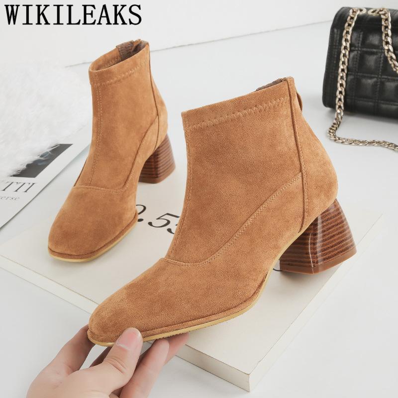 Zapatos Botas Mujer Botines Compre De Gamuza Para 1qYc6xg b4d75d86631f