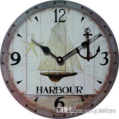 6f57efbc2a3b Compre Venta Al Por Mayor 2016 Reloj De Pared Antiguo De Madera Del Diseño Moderno  Relojes De Pared Decorativos Grandes Barato Vela Reloj De Anclaje ...