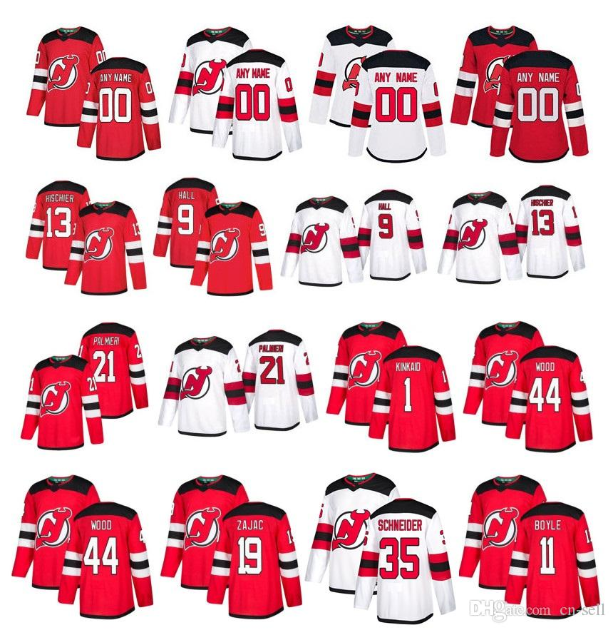 2019 Customized New Jersey Devils Jersey Nico Hischier Taylor Hall Travis  Zajac Schneider Palmieri Butcher Kinkaid Miles Wood Stitched Hockey From Cn  Sell 534ad5a75