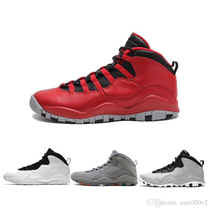 403b9386de7e98 10s Mens Basketball Shoes 310805 160 Top Quality Westbrook Cool Grey 10s  Basketball Shoes For Men Size US 7.0 13 Boys Basketball Shoes Cp3 Shoes  From ...