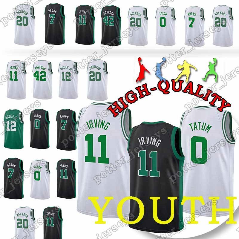 cheaper 7bddb 1c884 Youth and Adult Boston 0 Jayson Tatum Celtics 11 Kyrie Irving Jerseys 20  Gordon Hayward 7 Jaylen Brown 42 Al Horford Jersey