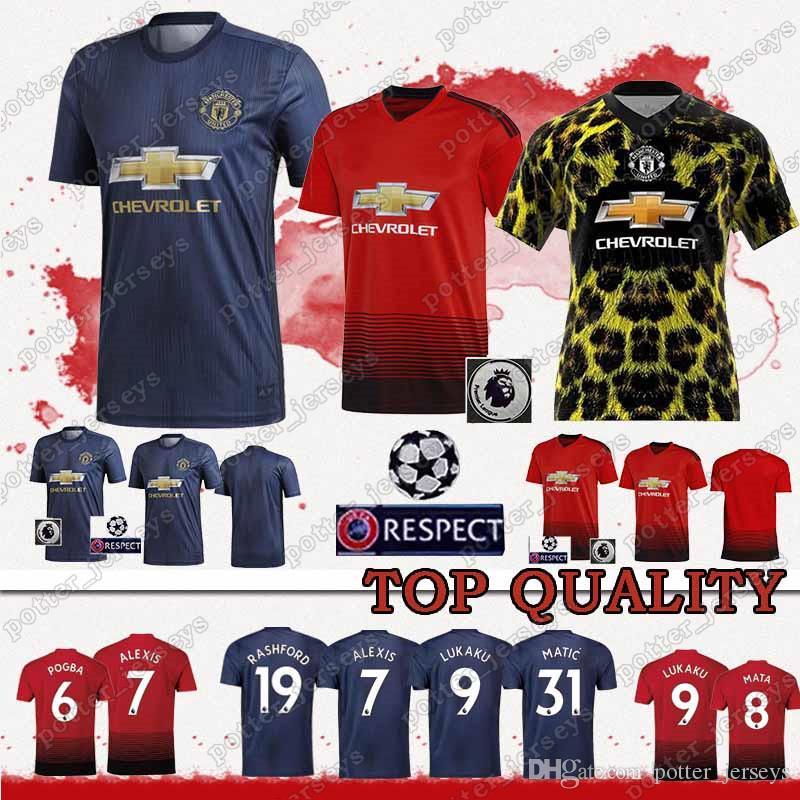Ventas Baratas 18 19 Camisetas Manchester Unite 6 Paul Pogba 8 Mata 7  Sanchez 9 Romelu Lukaku 11 Anthony Martial 17 Fred 31 Matic Camiseta De  Fútbol Por ... ed62cd4bc9151