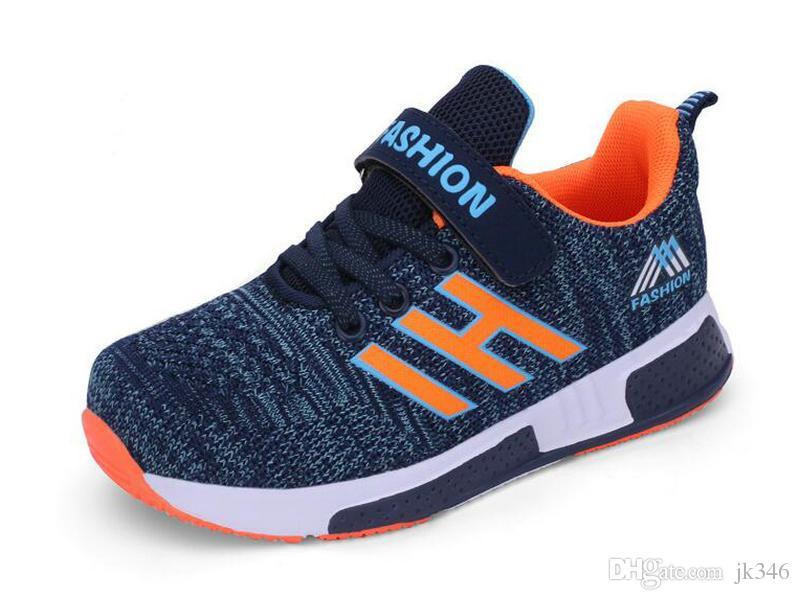 25b83eeb5f7 Compre Jeff Sneaker Niños Grandes Niños Azul Real Fresco Moda Zapatos  Casuales Malla Cómoda Peso Ligero Superior A  111.68 Del Jk346