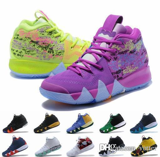 5993c1f6aed 2018 Kyrie Basketball Shoes For Men Irving IV Multicolor Black Moon White  Gold Finals Sports Training Sneakers Kyries Shoe Chaussures Cheap Shoes 4e  ...
