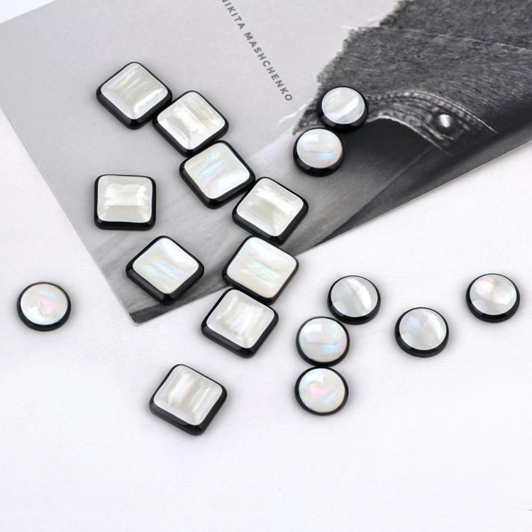 Min order 50pcs/lot color round/square shape resin beads charms diy jewelry earring/garments pendants accessory