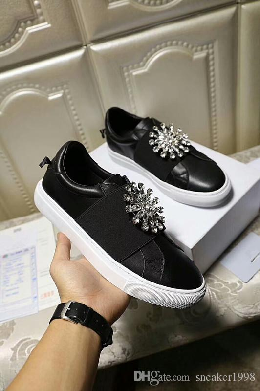 Designer shoes White sneakers Platform Shoes genuine leather trainers Reflective White trainers for Men Women Flat Casual Shoes ys18030201