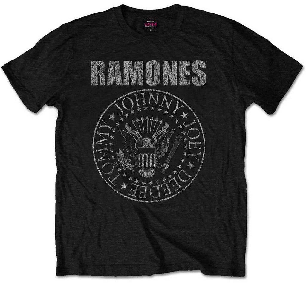 2314c08fe Ramones 'Presidential Seal Distressed' T-Shirt - NEW & OFFICIAL! Men Women  Unisex Fashion tshirt Free Shipping black
