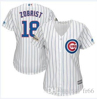 huge discount f9640 81bf1 2019 World Series Champion Chicago Cubs 18 Ben Zobrist 71 Wade Davis  Baseball Jerseys Custom Sports factory mlb Cheap Jersey Fashion Sizes 4