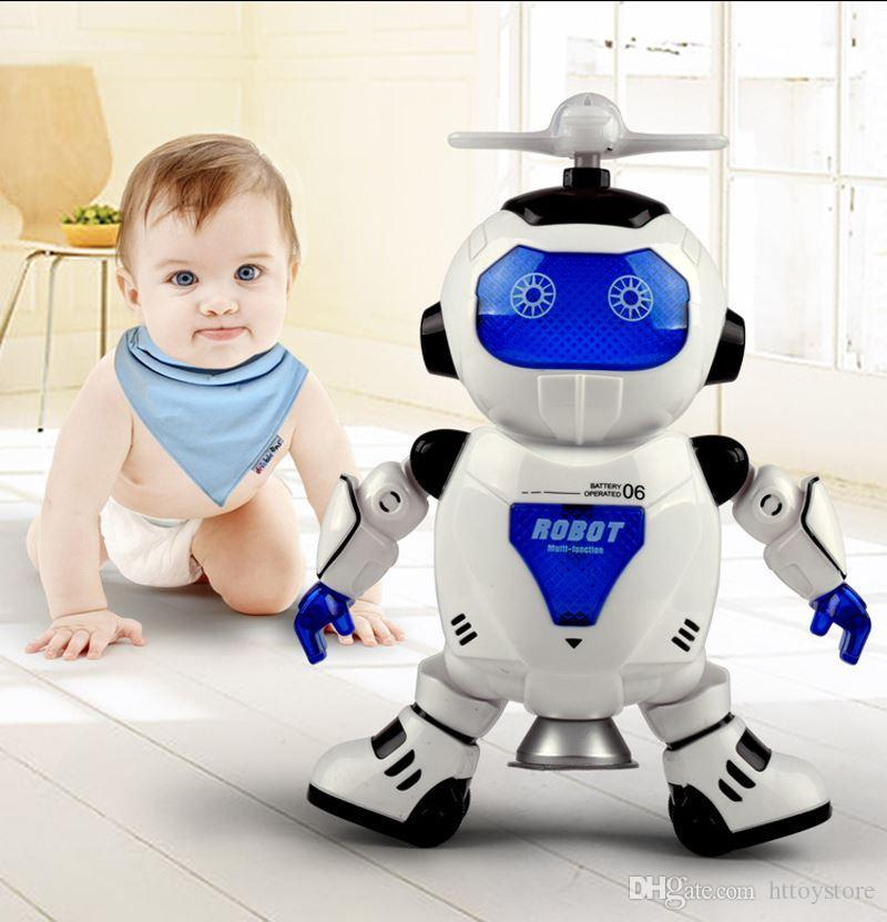 082932b9f479 New 360 Rotating Electronic Singing Dancing Smart Space Robot Kids Cool  Astronaut Model Music Colorful Light Toys Christmas Gift Electronic Dog  Doors For ...