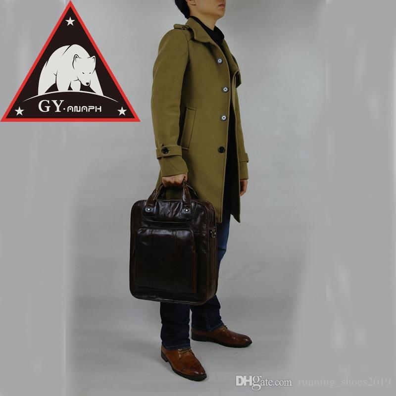 a7d564caa2ff8 Großhandel ANAPH Luxus Männer Vintage Importiert Aktentasche Aus Leder  Multifunktions Business Männer Hand Koffer Casual Totes Hohe Qualität  Kaffee   138748 ...