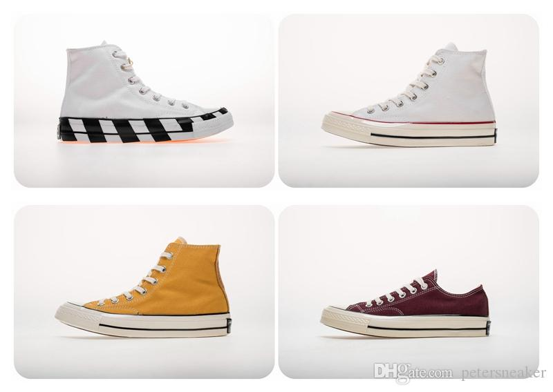 CONVERSE Chuck Taylor All Star Classic 1970 off white Classique Chuck 1970 Salut Hommes Femmes Toile Skateboard Chaussures 2019 Nouvelle Mode 70 Star