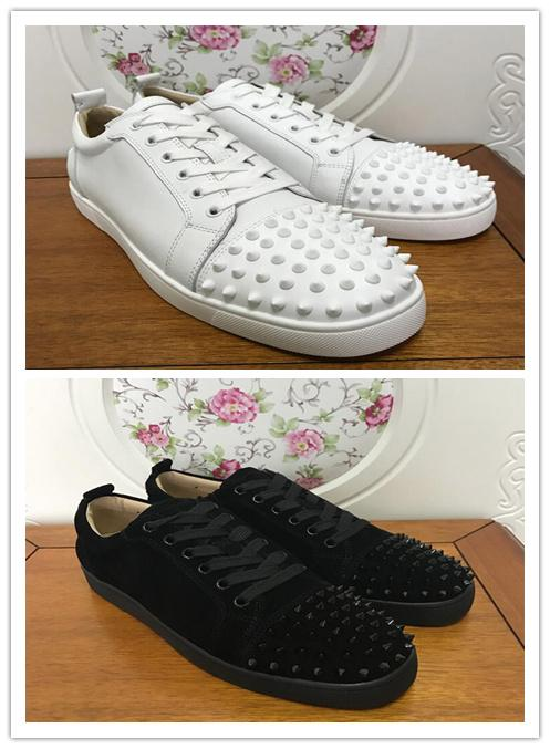 Men Designer Shoes Designer Sneakers low cut Spikes Flats shoes Red For Mens and Womens Leather Sneakers Party Designer