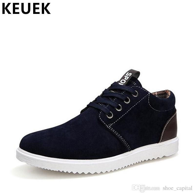 e3337986924c Autumn Winter Men Casual shoes Lace-Up Breathable British style Flats Male  Sneakers Warm Cotton shoes 033 #304784