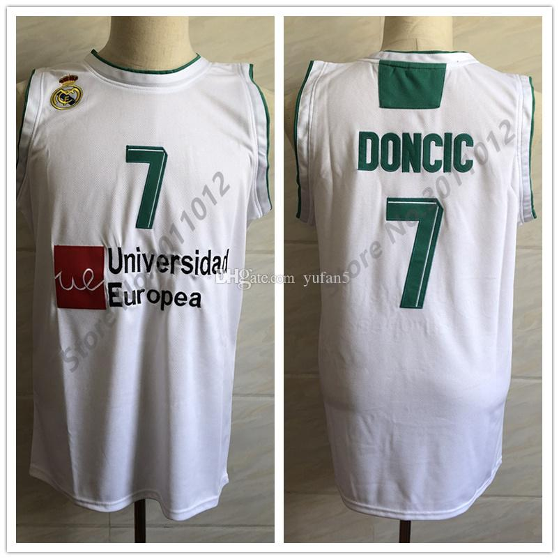 best website c12a1 dfb0d #7 Luka Doncic Real Madrid Euroleague Retro Classic Basketball Jersey Mens  Stitched Custom Number and name Jerseys