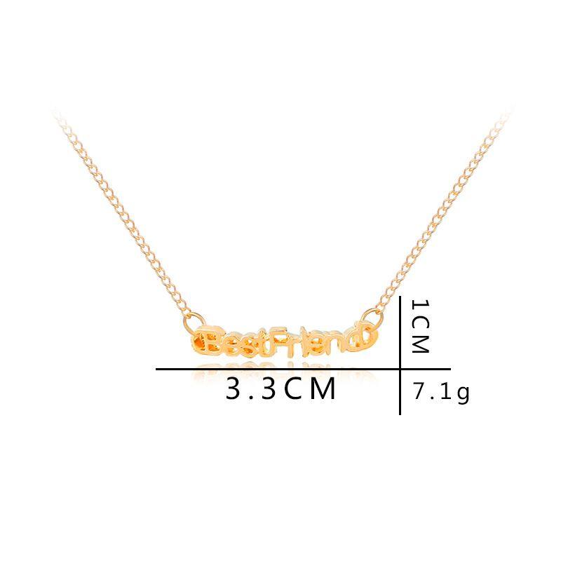 1 lucky Letter best friend Friendship good friend girlfriend Pendant  Necklace English alphabet love heart jesus necklace Jewelry