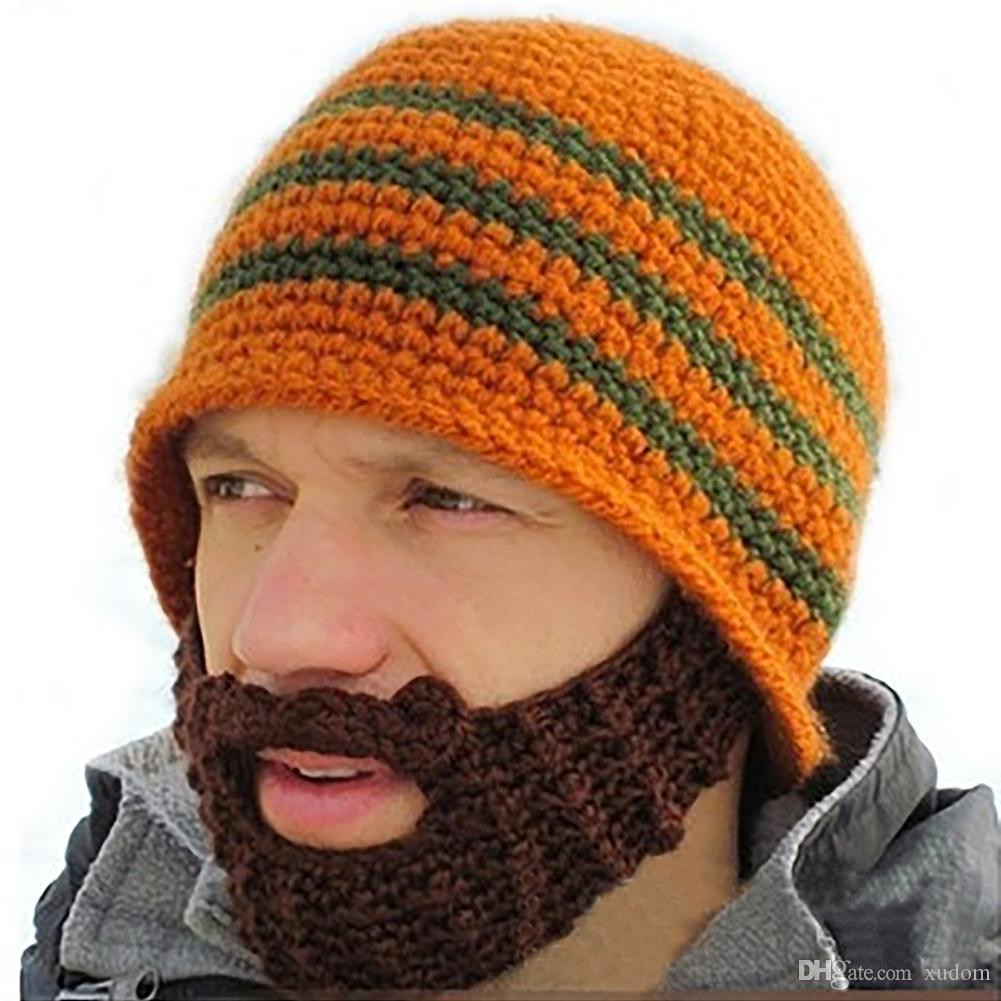9905ee78 Wholesale Warm Winter Women Men Fashion Punk Knit Crochet Beard Hat Beanie  Mustache Face Mask Ski Snow Caps Unisex Knitted Hats Free Shippin