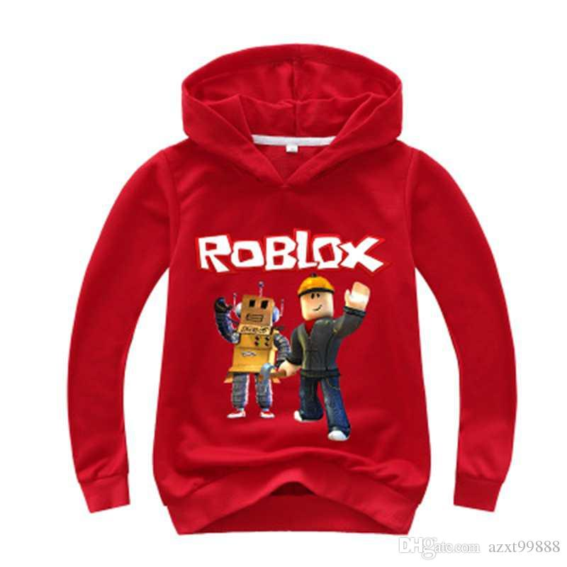 New Kids Roblox Red Nose Day Pullover Felpa con cappuccio Ragazzi Ragazze Autunno Cotone T shirt Fashion Cartoon Top 2-14y