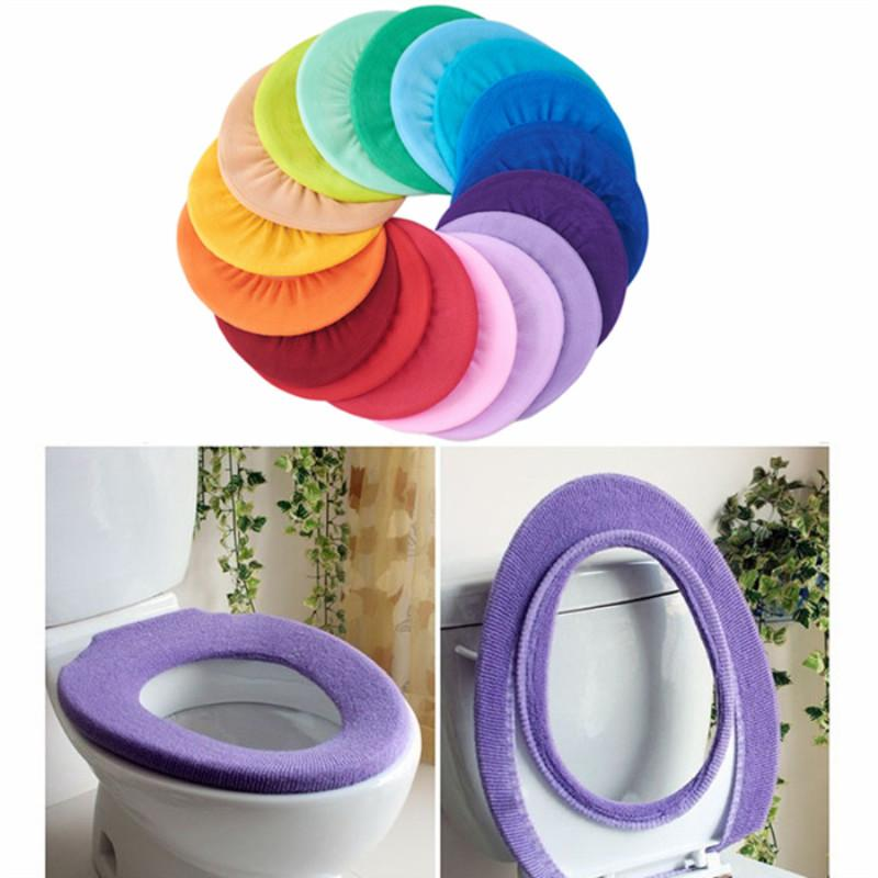 Awe Inspiring Bathroom Toilet Seat Cover Closestool Washable Soft Warmer Mat Pad Cushion Toilet Seat Cover Random Color Bathroom Accessories Squirreltailoven Fun Painted Chair Ideas Images Squirreltailovenorg