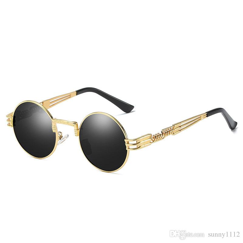 01355b34403 Polarized Sunglasses Round Vidano Optical Metal Steampunk Men Women Fashion  Glasses Brand Designer Retro Vintage Sunglasses UV400 Sunglasses Uk  Polarised ...