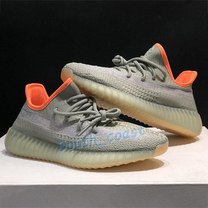 Sneakers Koşu Dünya Çöl Adaçayı cüruf Yansıtıcı Kanye Ayakkabı Arka Lamba Marsh Siyah Statik Yecheil Yeshaya Kil Zebra Erkekler