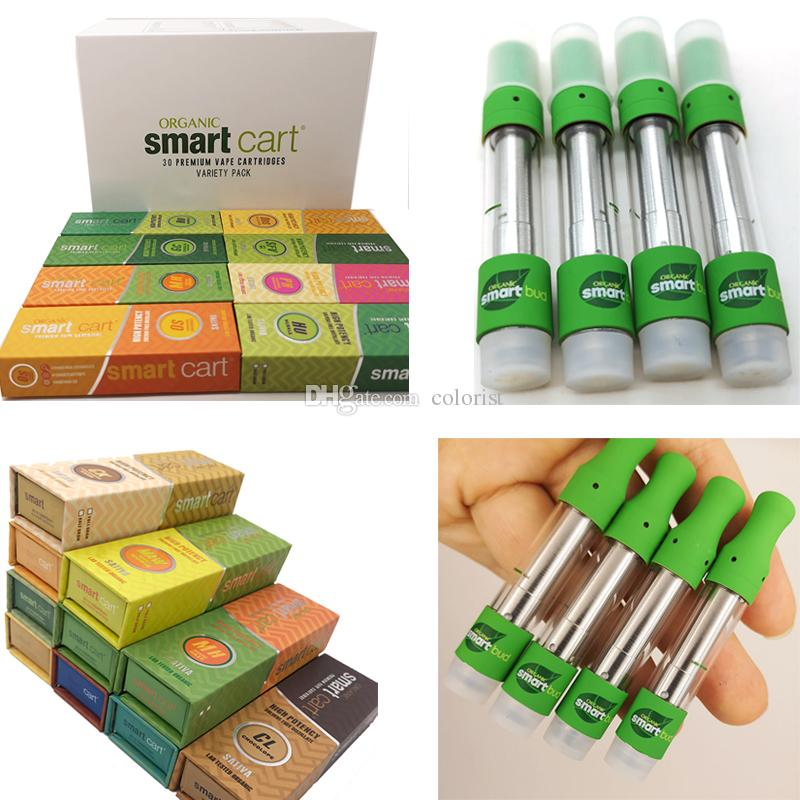 Smartbud Magnetic Box Smart Carts Bud Leaf Vapor Vape Cartridges 30  Packaging Vaporizer Ceramic 0 8ml Copper Tip Empty Pen Oil E Cigarettes
