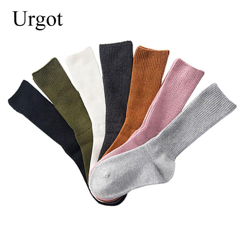 08c7f29577078 Urgot Women Cute Candy Color Heap Pile Cotton Socks Autumn Winter Thick Tube  Breathable Absorb Sweat Sock Mieas Hosiery Online with $31.51/Piece on ...