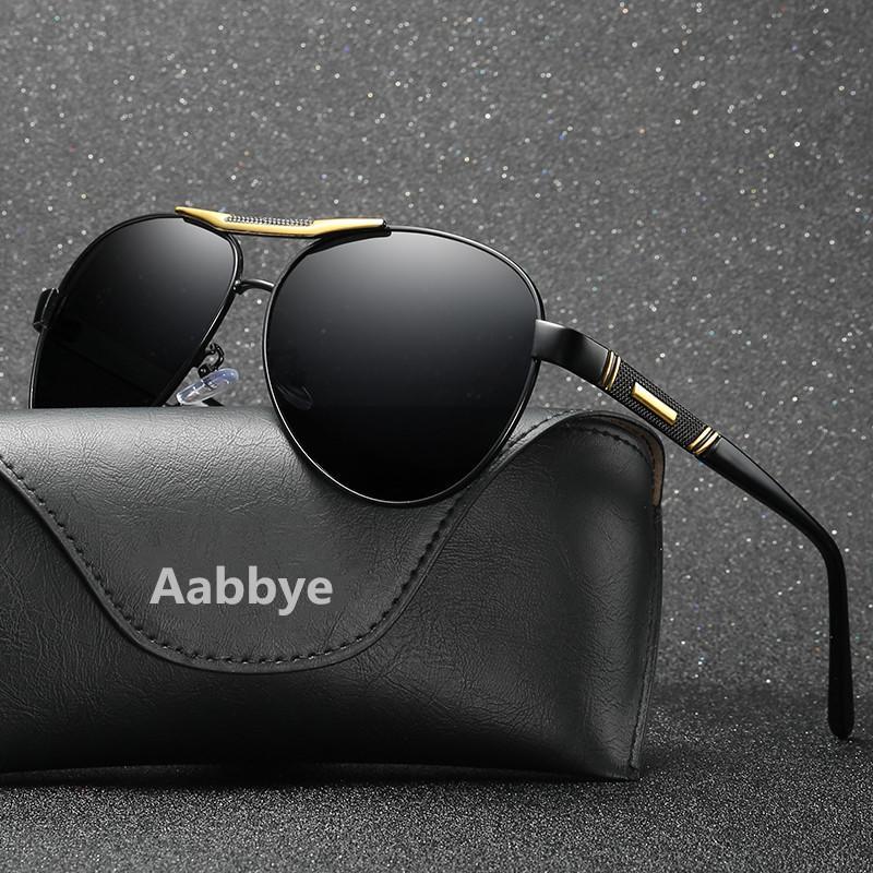 ba13f42de779ae Aabbye Polarized Sunglasses Men Black Cool Travel Sun Glasses High ...