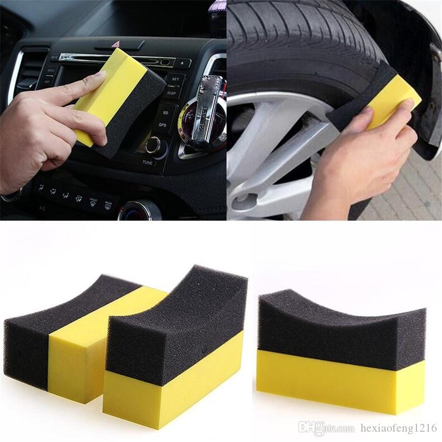 Multi-function Cleaning sponge Wipe automobile sponge Tire Anti-dead angle  Household Cleaning 2284c