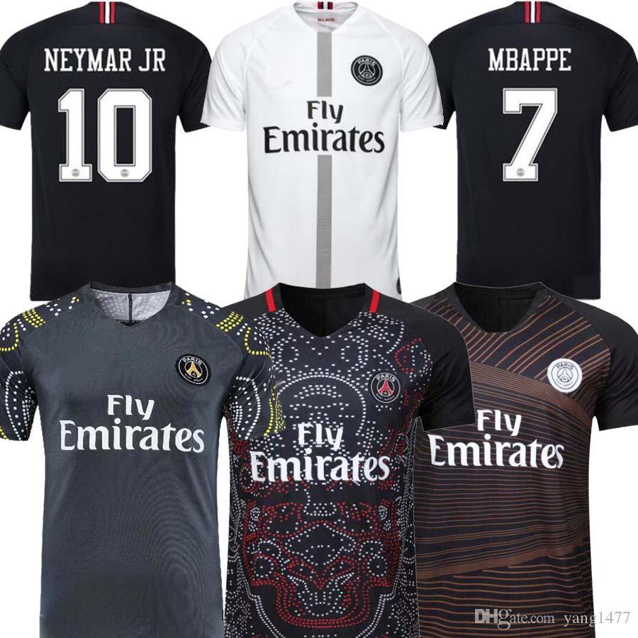 new product 54dd9 e6d55 2019 2020 PSG MBAPPE 19 20 Pre-Match maillots de foot pre match prematch  away soccer jersey Paris Saint Germain CAVANI football shirts