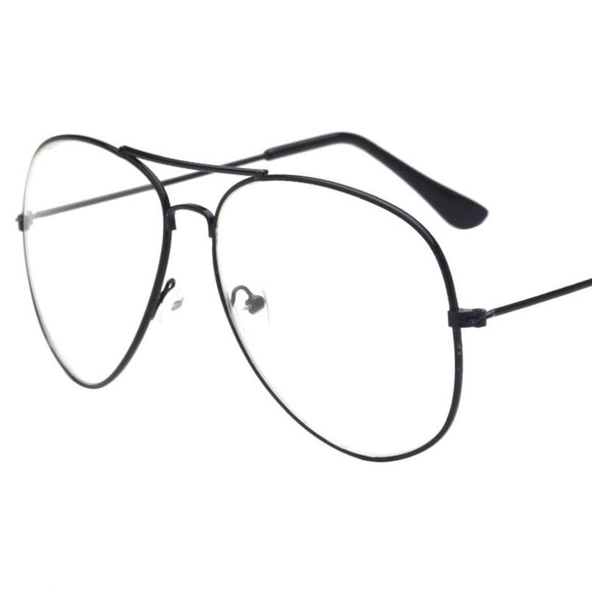 9f7d272a11f9 Gold Clear Glasses Clear Frame Glasses Women Eyewear Men Spectacle ...