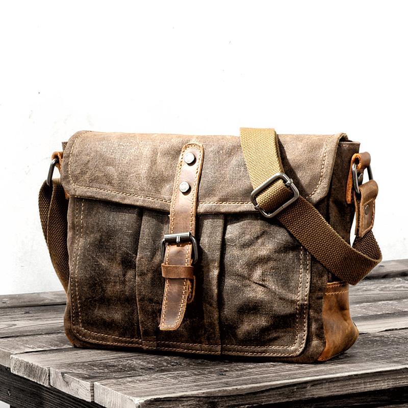e667f318c Vintage Men'S Shoulder Bag Travel Crossbody Bags Causal Canvas Messenger Bag  Patchwork Multi Function Handbag School Tote Bags Purses From Grapeen, ...