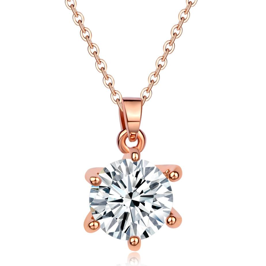 New Pattern Rose Gold Ornaments Product Accessories Star Type Dress And Dress Ma'am Hundred And Up Necklace Sweater Chain Zircon Pendant