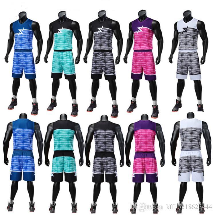 4cbe129bb29f8 Acheter Maillot De Basket Ball Pour Hommes Personnalisé Imprimé ...